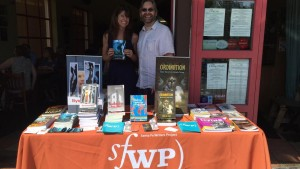 Author Elizabeth Hazen and publisher Andrew Gifford at the Grubb Road Book Festival.